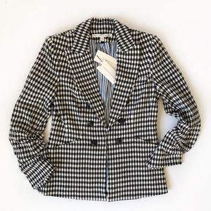 Veronica Beard Caldwell gingham dickey jacket